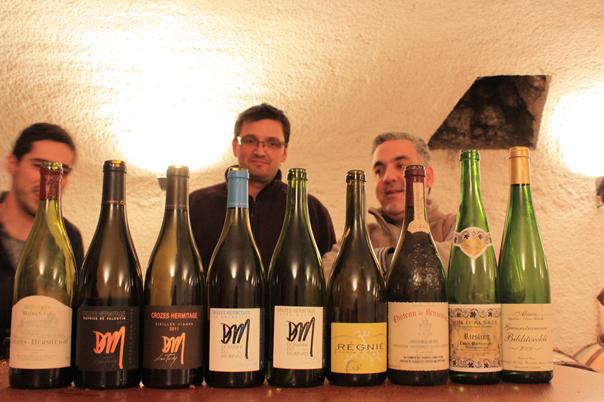 Luc Tardy avec Azar de la cave La Balth'Azar à Tournon sur Rhône