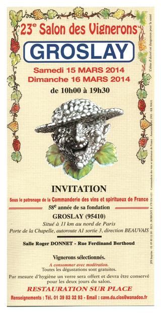 Salon des vignerons de Groslay 2014